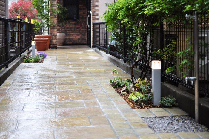 アプローチ ガーデンライト 立水栓